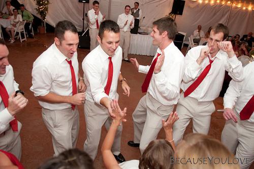 wedding groomsmen dance