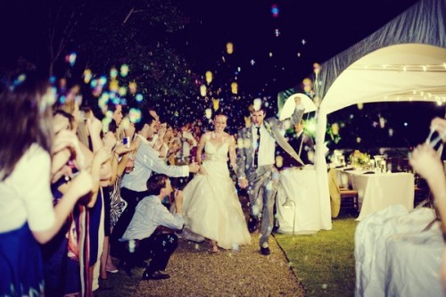 bride-and-groom-exit-throwing-confetti