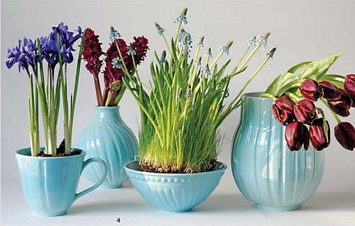 Flowers In Light Blue Vases Elizabeth Anne Designs The Wedding Blog