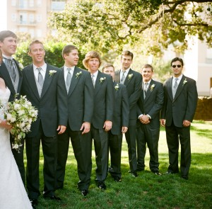 Groomsmen Gray Tuxes - Copyright A Bryan Photo - No unauthorized use without written permission