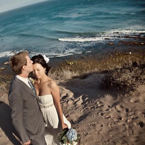 Malibu Beach Wedding Portraits