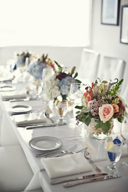 pink-purple-blue-wedding-centerpieces