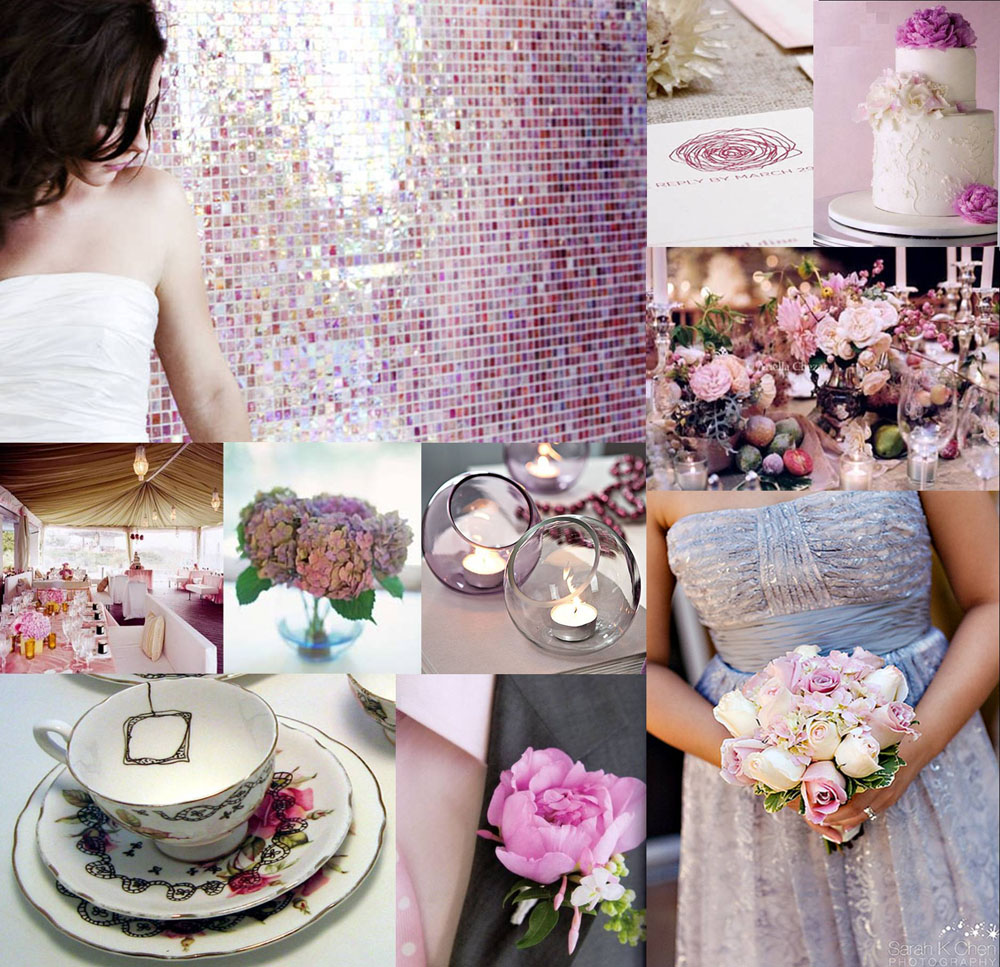 Purple Silver Wedding Dresses For Woman