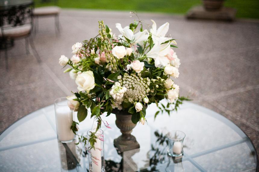 Rustic White Pink Green Centerpiece Elizabeth Anne Designs The