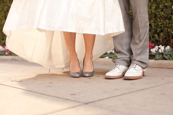 Silver Sparkle Wedding Shoes