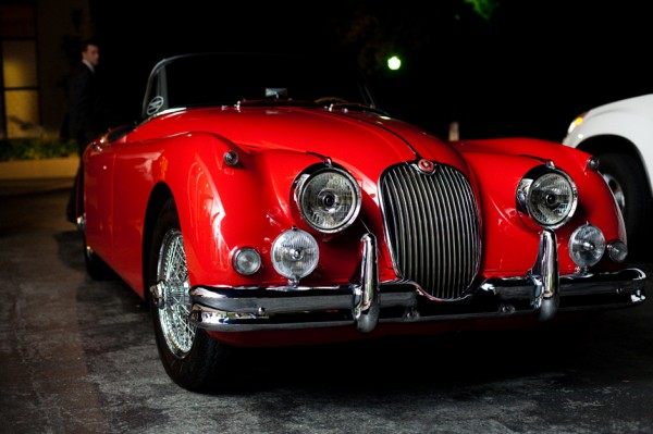Wedding Getaway Car Red Jaguar - Copyright A Bryan Photo - No unauthorized use without written permission