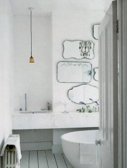 white-bathroom-silver-mirrors