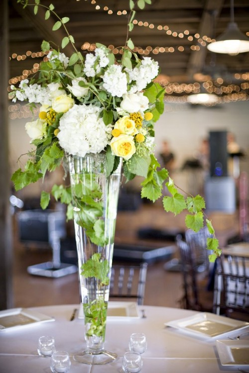 white-yellow-green-tall-centerpieces