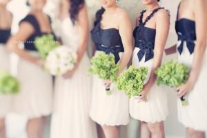 black-and-white-bridesmaids-dresses