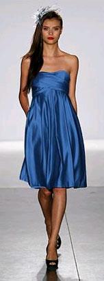 blue-strapless-bridesmaids-dress