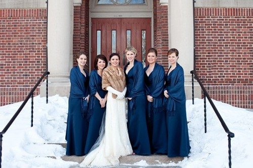 navy-bridesmaids-winter-wedding
