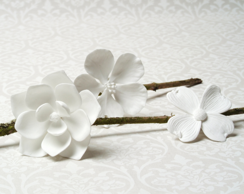 Delicate porcelain elizabeth anne designs the wedding blog porcelain flowers mightylinksfo