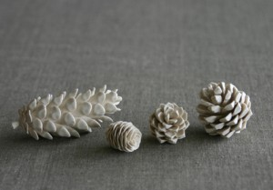porcelain-pine-cones