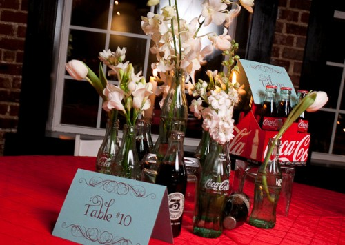 wedding-centerpiece-coca-cola-bottles