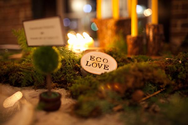 Wood and moss wedding centerpiece elizabeth anne designs