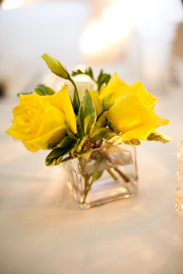 Yellow centerpieces wedding ideas 8 elizabeth anne for Yellow flower arrangements centerpieces