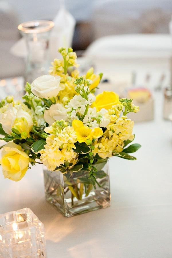 Yellow Wedding Flower Centerpieces - Flowers Healthy