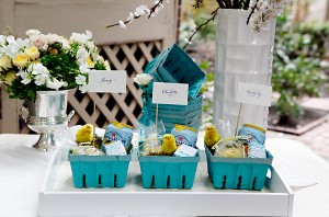 Blue and Yellow Easter Party Inspiration