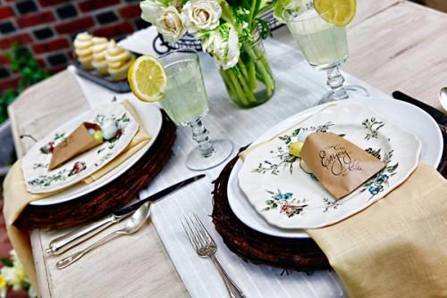Elegant Vintage Easter Party Tablescape