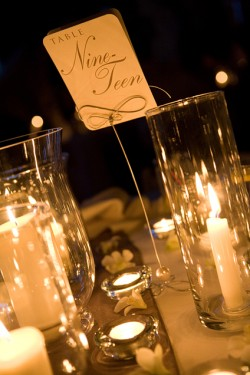 Clustered Candle Centerpieces