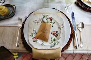 Vintage Easter Wedding Tablescape