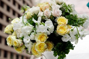 Yellow and White Centerpiece