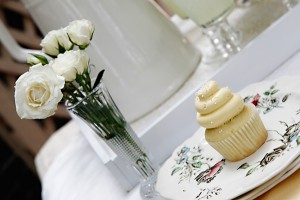 Yellow and White Vintage Place Setting