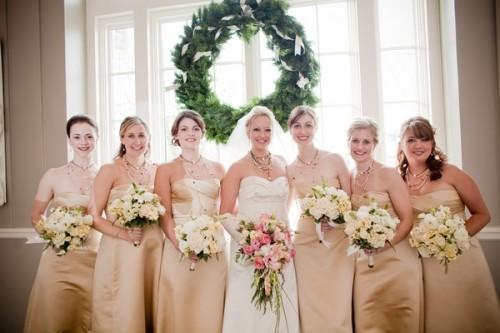 champagne-bridesmaids-dresses