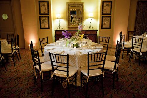 elegant-wedding-table-purple-green-centerpieces