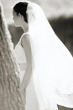 fingertip-length-veil