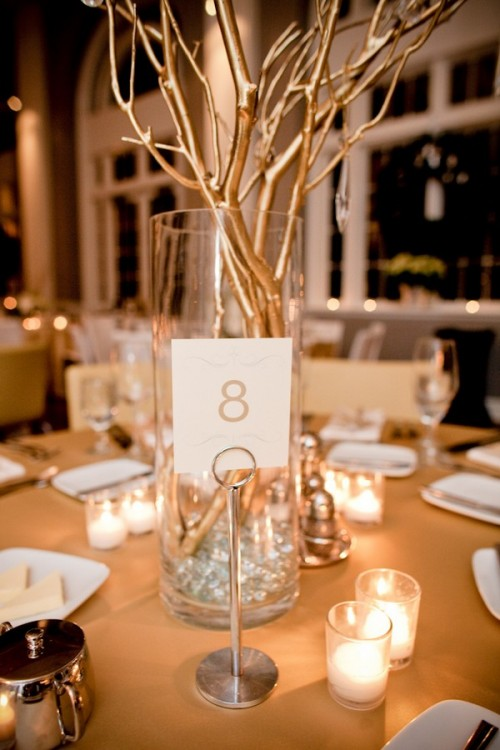 Gold Tree Branch Centerpieces - Image Home Garden and Tree Rtecx.Com