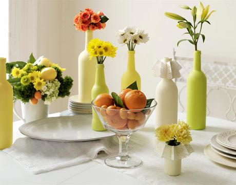 green-vases-citrus-table