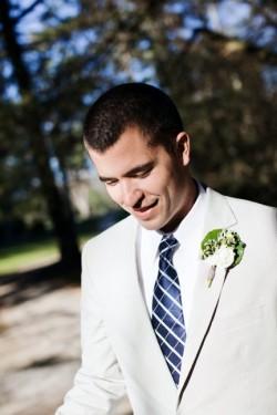 groom-khaki-suit-navy-striped-tie