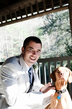 groom-with-dog