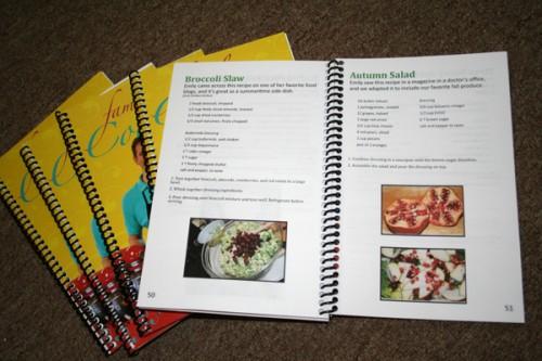 wedding favor cookbook