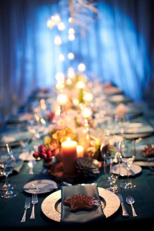 Modern Ocean Themed Tablescape Elizabeth Anne Designs The Wedding Blog