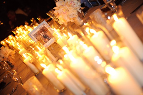 pillar-candle-clustered-centerpieces