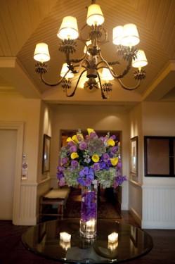 Key biscayne grand bay club elegant purple wedding purple and yellow centerpiece wedding ideas junglespirit Images
