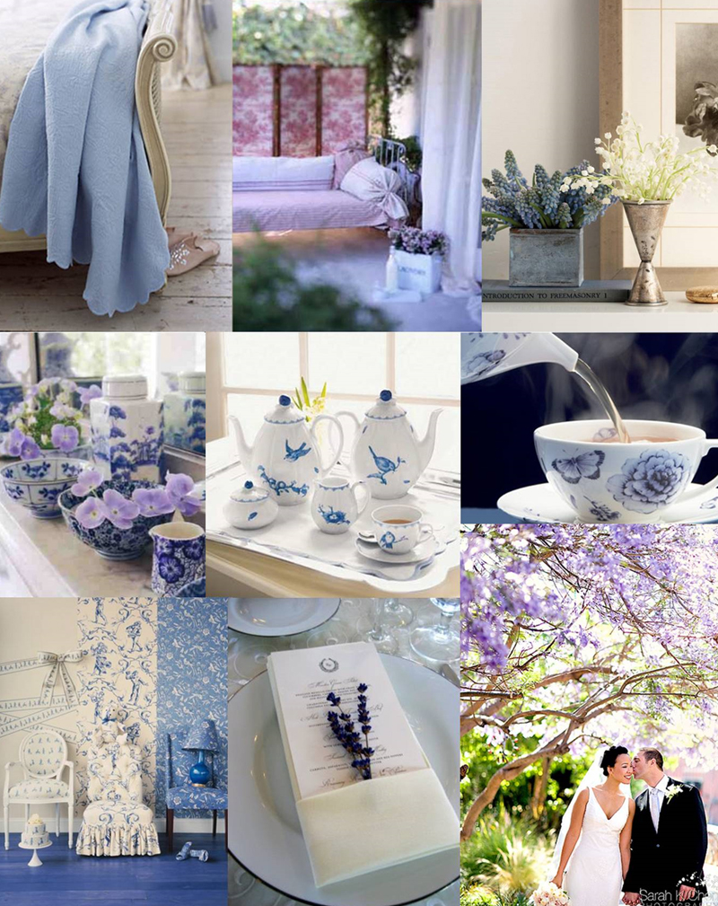 Robin S Egg Blue And Lavender Wedding Table Ideas