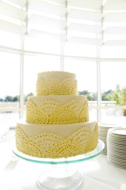 yellow-wedding-cake-with-scallop-icing