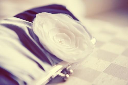 Black and White Bridal Clutch Bag