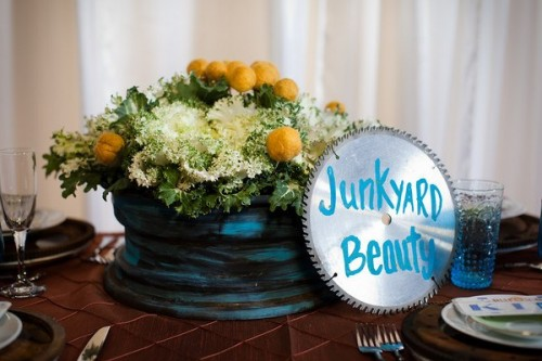 Blue Orange and Red Wedding Table Ideas