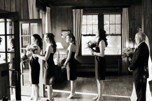 Bridesmaids Waiting to Process