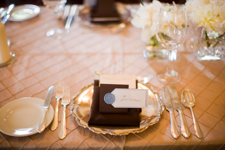 Brown and Gold Tabletop Wedding Ideas