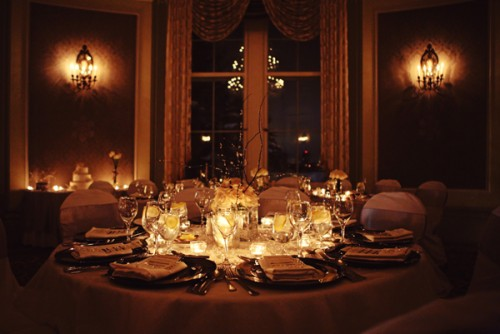 Candlelight Wedding Reception Table