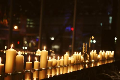 Candles Lining Bar