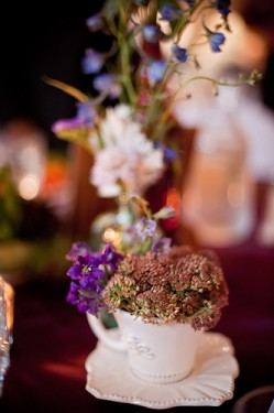 Centerpieces in Teacups