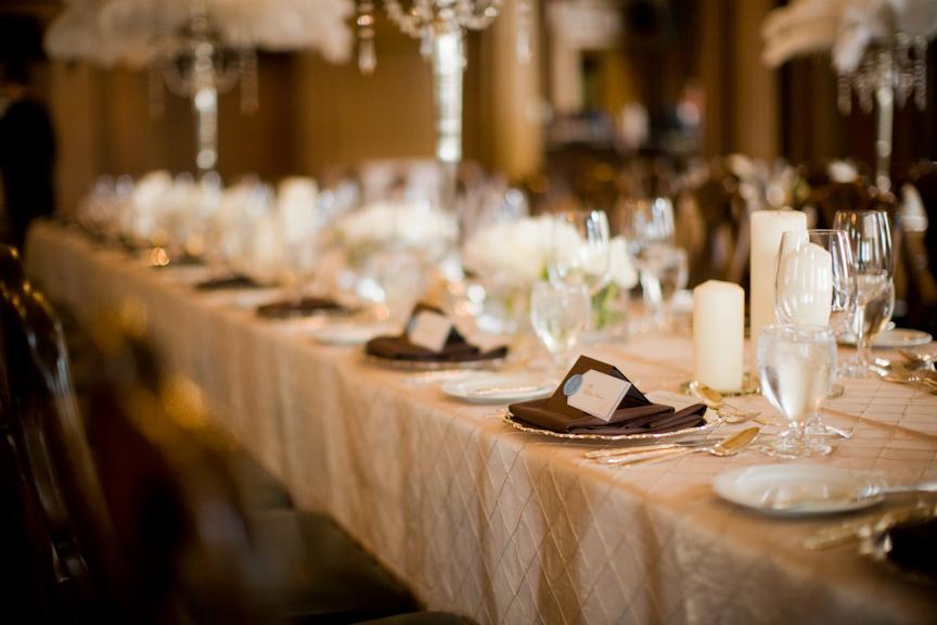 Decoration Table Ivoire Chocolat