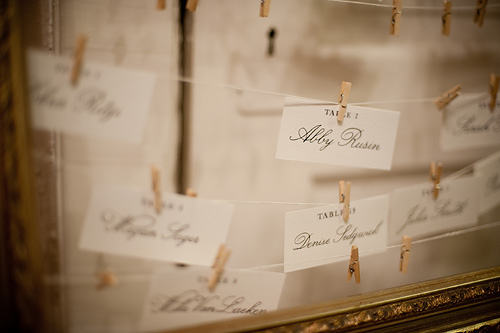 Clothesline Escort Cards