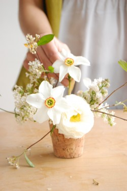 DIY Wedding Flowers Lilac and Jasmine Centerpiece